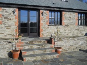 The Long Linhay holiday cottage, Mortehoe, from the courtyard